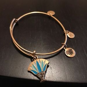 Alex and Ani Blue Lotus Charm Beacelet